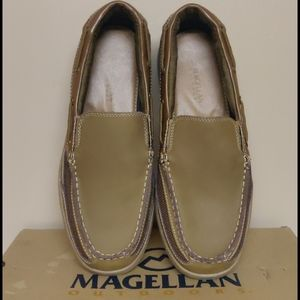 Magellan leather upper slip on shoes